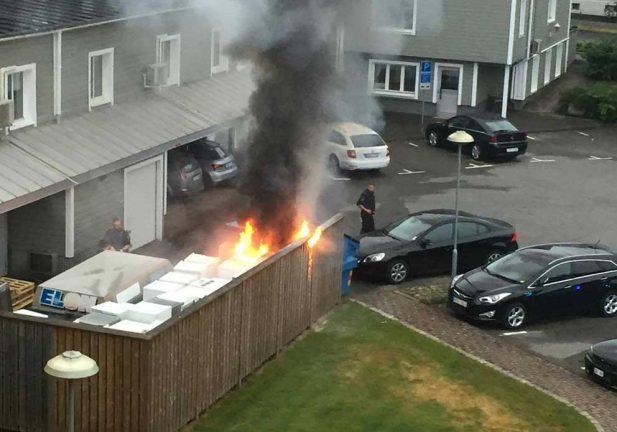 TV: Brand i centrala Värnamo