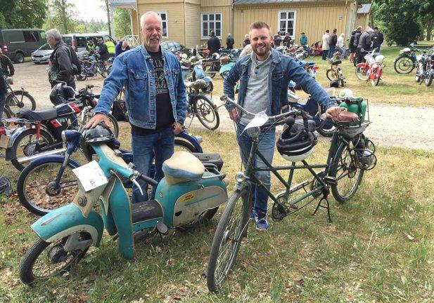 TV och bildspel: Rara mopeder på Skillingarydsrallyt
