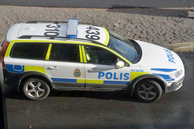 Yxman gripen av polisen