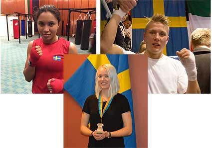 Agnes, Oliver och Michaela på OS-läger