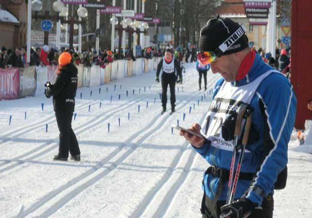 Lokala skidlöpare åkte Halvvasan