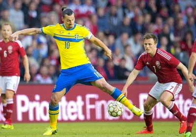 Sverige ställs mot Danmark