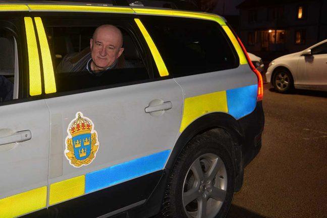 Riksdagsmannen imponerad av polisens arbete