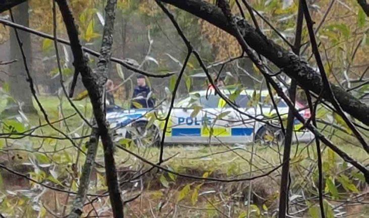 Fynd i Lagan – polis på platsen