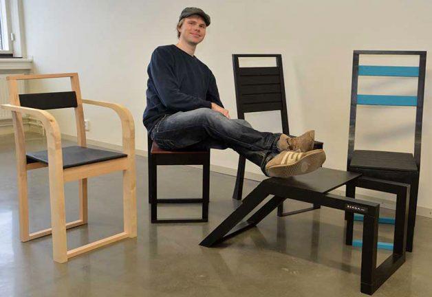 Blev möbeldesigner i designerstaden Värnamo