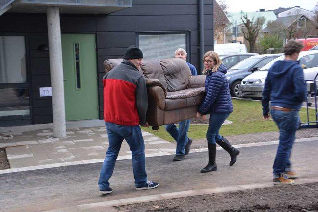 Full fart när hyresgästerna skulle flytta in på Städet