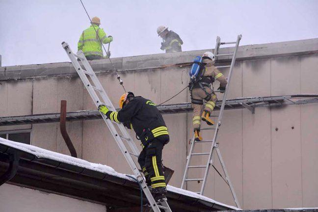 Stor industribrand i Hörle