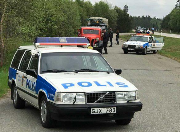 Bildspel: Fordonsentusiaster fastnade i poliskontroll
