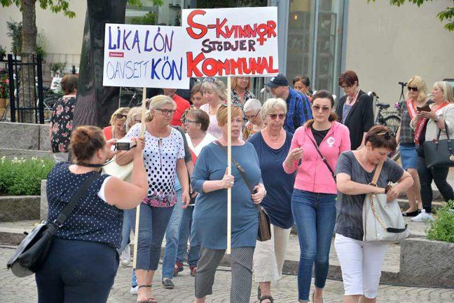 Protesterade mot dåliga arbetsvillkor hos kommunen