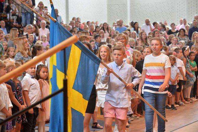 Fullsatt i Arken när Trälleborgsskolan tog sommarlov