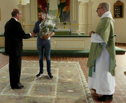 Kyrkovaktmästare avtackades i Rydaholm