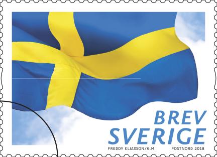 Nytt frimärke med flaggan