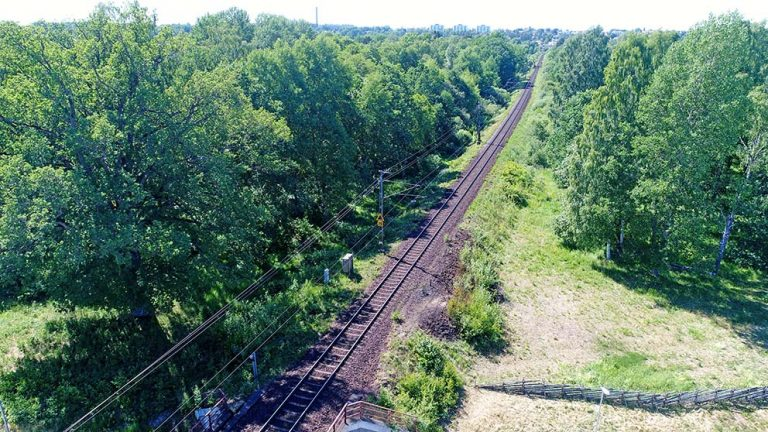 Brand vid järnvägen – än en gång