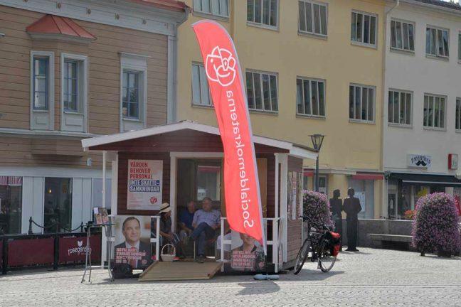 Lugn inledning på valrörelsen i Värnamo