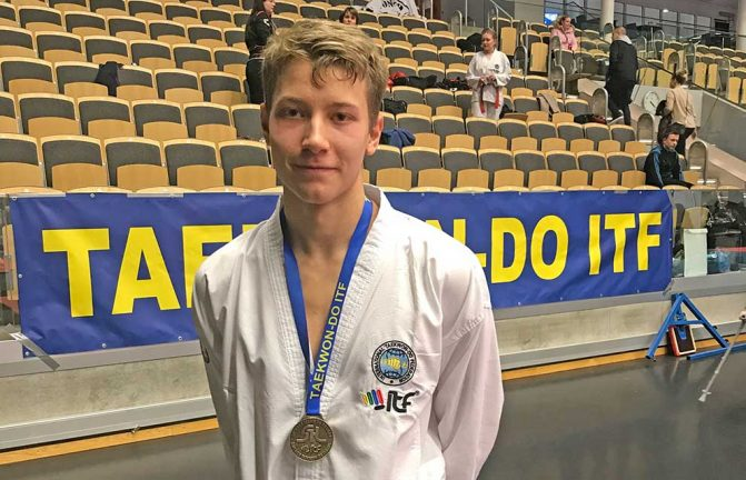 Olle vann i taekwondo