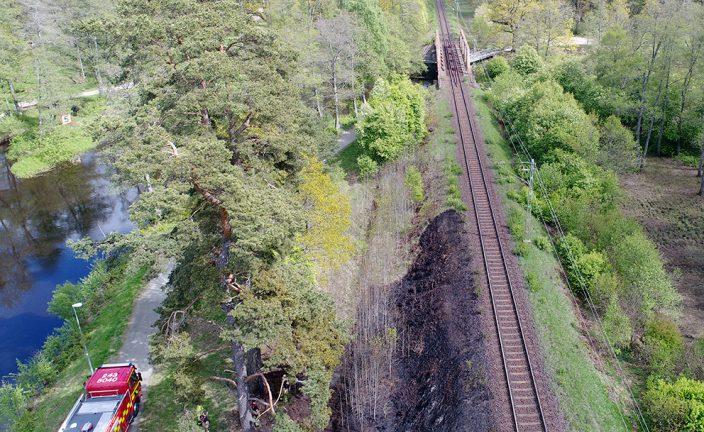 Järnvägsbrand vid Apladalen