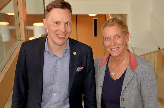 Moderata riksdagsledamöter besökte Värnamo