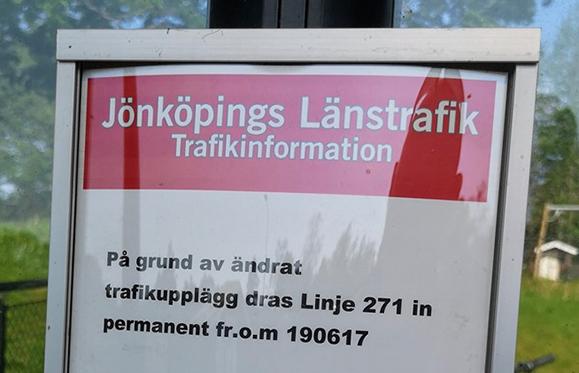 Landsbygdsbussen slutar gå den 17 juni