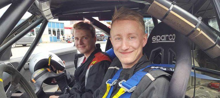 Johannes och Anton rallyvann