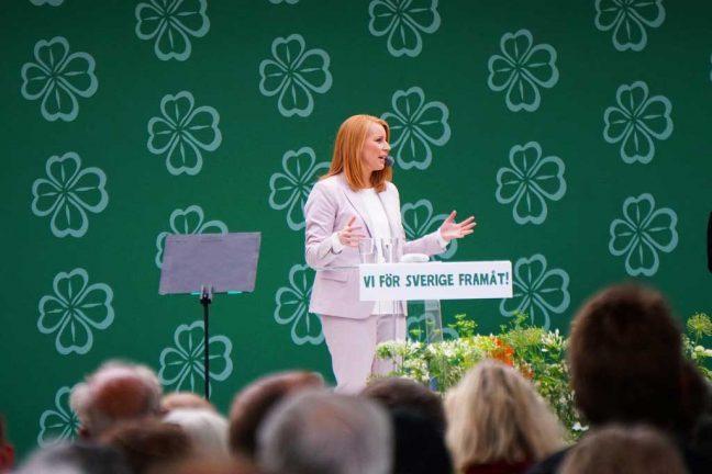 Annie Lööf talade i Almedalen