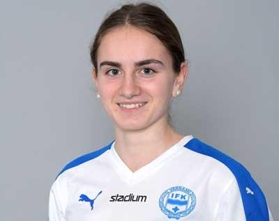 IFK-tjej på landslagsläger