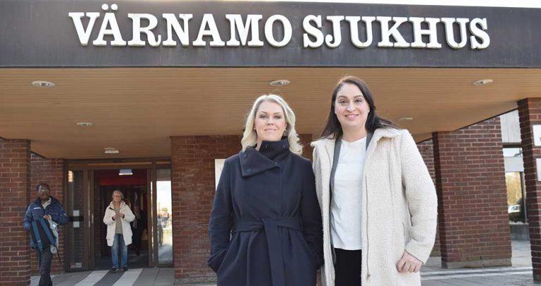 Socialministern besökte Värnamo sjukhus