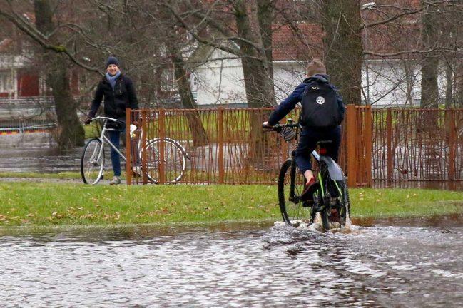 Läsarbilder: Vatten kring Lagan i Värnamo