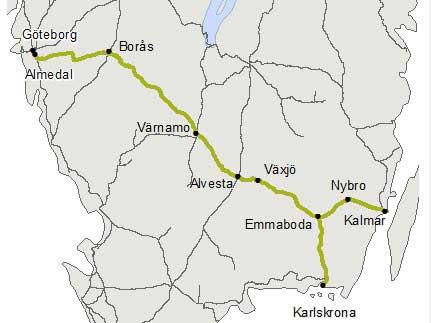 Värnamo kommun vill lyfta riksväg 27 och kust till kustbanan