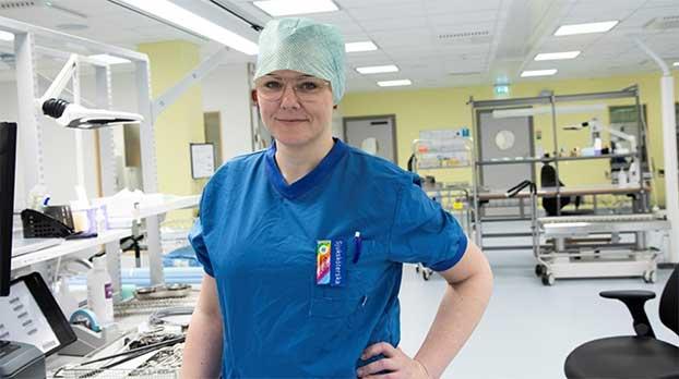 Annika presenterar steriltekniska enhet i USA