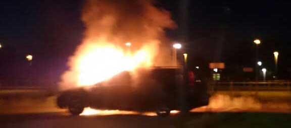 Bilbrand på Sveavägen