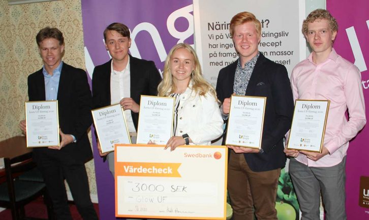 Glow blev Årets UF-företag i Värnamo kommun
