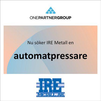 Automatpressare till IRE Metall