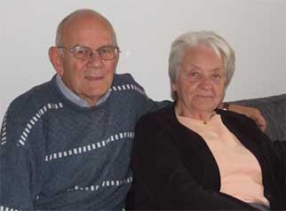 Gerd och Dani Hamlin firar diamantbröllop