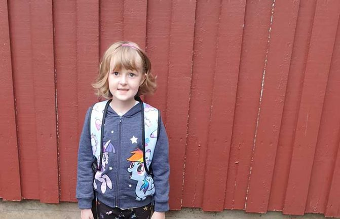 Maya Karlsson 7 år
