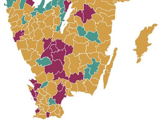 Flest nya fall per invånare i länet