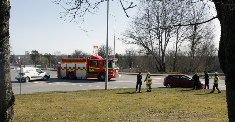 Trafikolycka på Götavägen