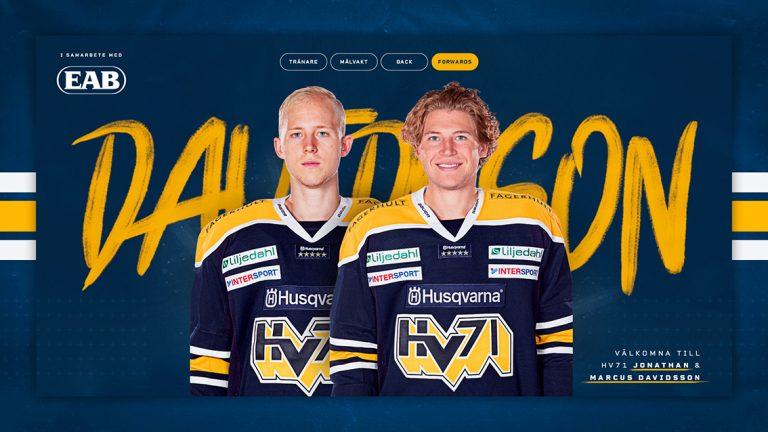 Bröderna Davidsson klara för HV 71