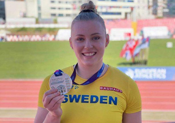 Axelina kom trea på EM för U 23