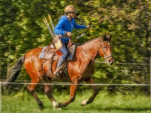 Bågskytte till häst i Hok